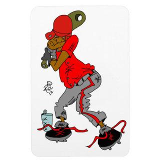 Baseball Cartoon on magnet