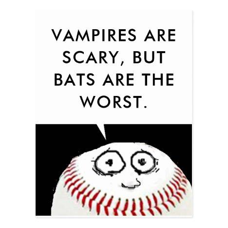 Baseball Cartoon Postcard