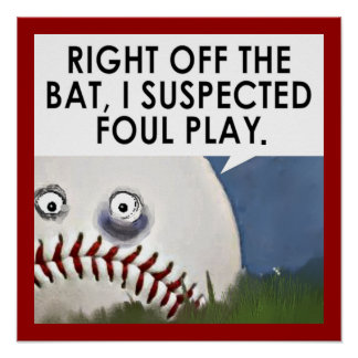 baseball cartoon poster