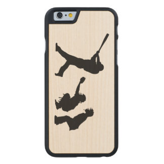Baseball Carved Maple iPhone 6 Case