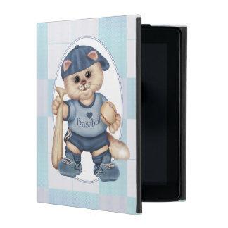 BASEBALL CAT BLEU CUTE iPad 2/3/4 iPad Case
