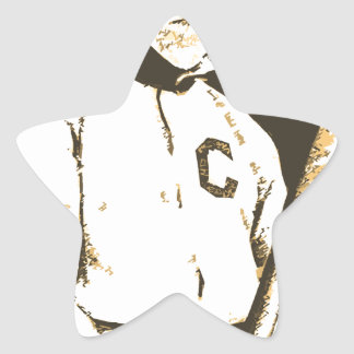 Baseball Cat Star Sticker
