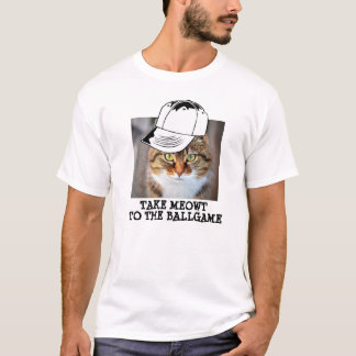 Baseball Cat T-shirt, Funny, Mens T-Shirt
