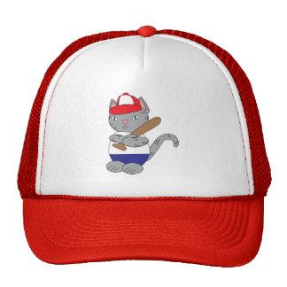 Baseball Cat Trucker Hat