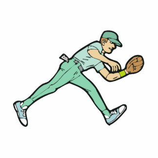 Baseball catch statuette
