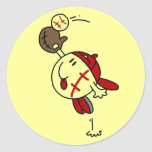 Baseball Catch Tshirts and Gifts Round Sticker