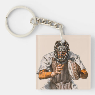Baseball Catcher Acrylic Keychains