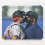 Baseball Catcher and Umpire Arguing Mouse Pad