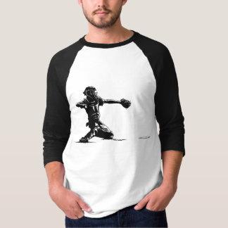 Baseball Catcher at Home Plate Jersey T-shirt