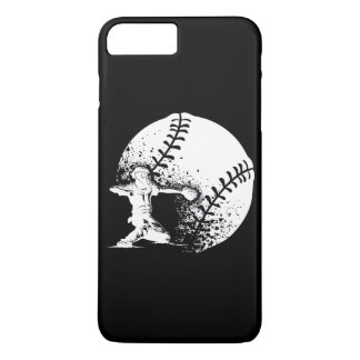 Baseball Catcher at Home Plate With a Grunge Ball iPhone 7 Plus Case