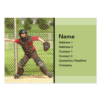 baseball catcher business card template