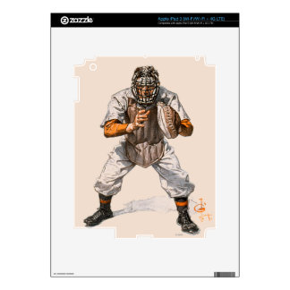 Baseball Catcher Decal For iPad 3