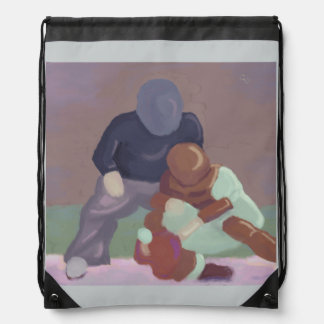 Baseball Catcher Drawstring Bag