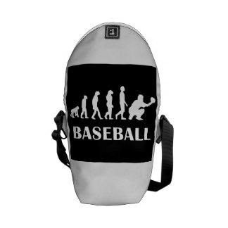 Baseball Catcher Evolution Courier Bags