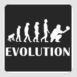 Baseball Catcher Evolution Stickers