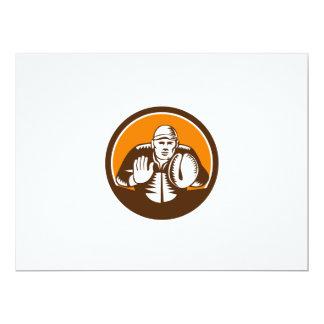 Baseball Catcher Gloves Circle Woodcut 6.5x8.75 Paper Invitation Card