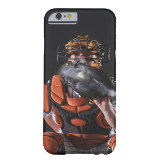 Baseball catcher holding ball in mitt barely there iPhone 6 case