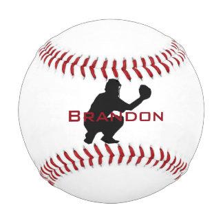 Baseball Catcher Image on a Baseball