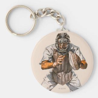 Baseball Catcher Keychain