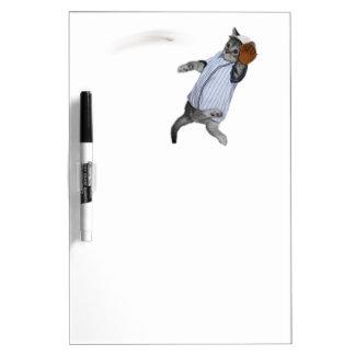 Baseball Catcher Kitten Dry Erase White Board