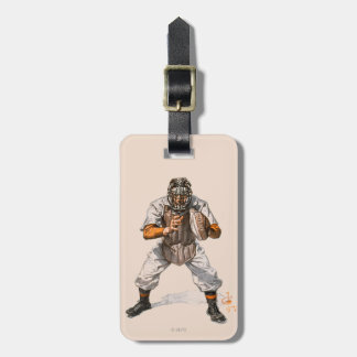 Baseball Catcher Tag For Bags