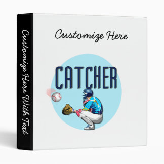 Baseball Catcher T-shirts and Gifts Binder
