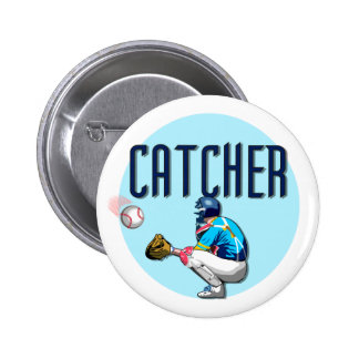 Baseball Catcher T-shirts and Gifts Button