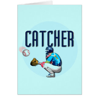 Baseball Catcher T-shirts and Gifts Greeting Cards