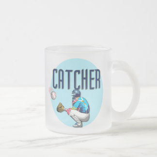 Baseball Catcher T-shirts and Gifts Frosted Glass Coffee Mug