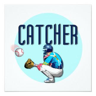 Baseball Catcher T-shirts and Gifts Invitation