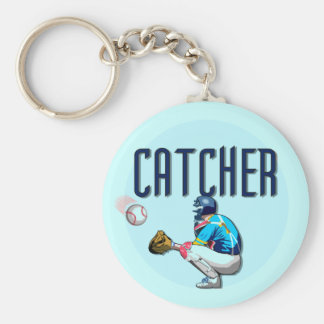 Baseball Catcher T-shirts and Gifts Keychain