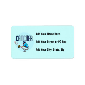 Baseball Catcher T-shirts and Gifts Label