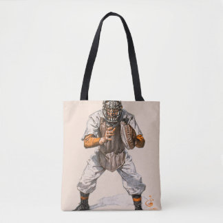 Baseball Catcher Tote Bag