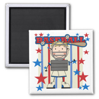 BASEBALL Catcher Tshirts and Gifts 2 Inch Square Magnet