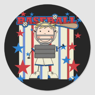 BASEBALL Catcher Tshirts and Gifts Classic Round Sticker