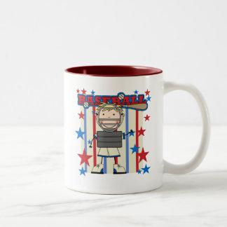 BASEBALL Catcher Tshirts and Gifts Two-Tone Coffee Mug