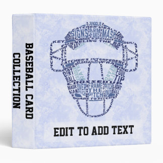 Baseball Catchers Mask Customizable Ring Binder