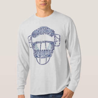 Baseball Catchers Mask Typography Shirt