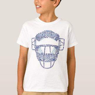 Baseball Catchers Mask Typography T-Shirt