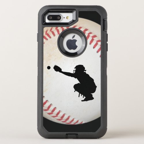 Baseball Cather Silhouette Phone Case