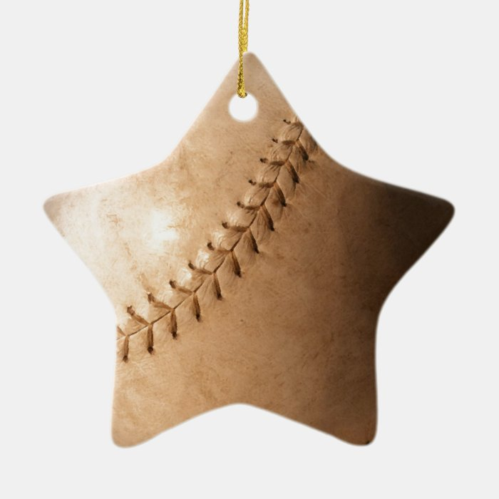 Baseball Ceramic Ornament