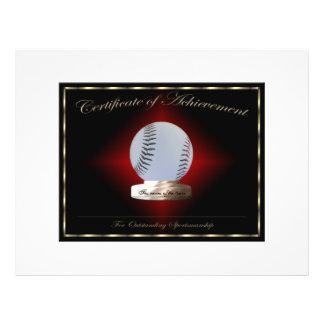 Baseball Certificate of Achievement Flyer Design