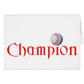 BASEBALL CHAMPION CARD