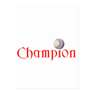 BASEBALL CHAMPION POSTCARD