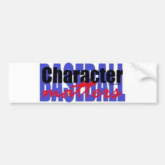 Baseball Character Car Bumper Sticker