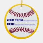 Baseball charm and Souvenir American Spirit Christmas Ornament