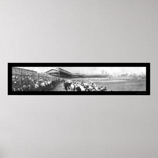 Baseball Chicago Pitt Photo 1908 Poster