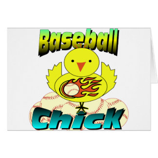 Baseball Chick Card