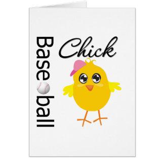 Baseball Chick Greeting Card
