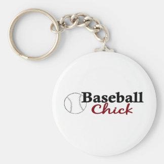 Baseball Chick Keychain